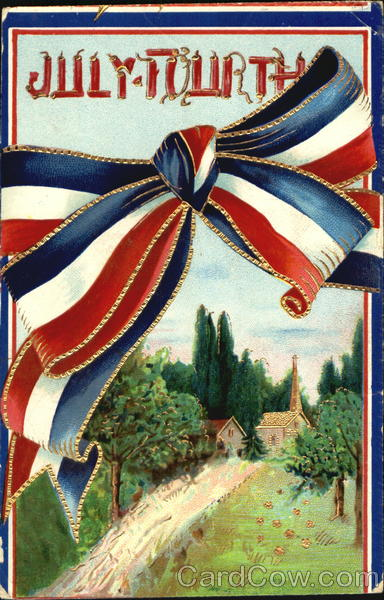 July Fourth Antique Postcard