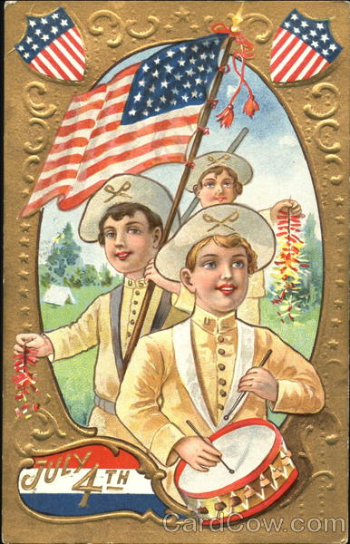 July 4th Greetings Children 4th of July