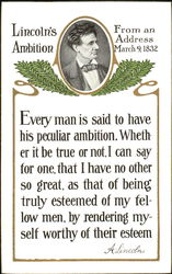 Lincoln's Ambition