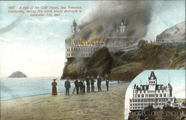 A View Of The Cliff House San Francisco California
