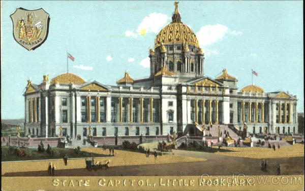 State Capitol Gold Embossed Little Rock Arkansas