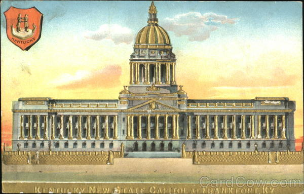 Kentucky New State Capitol Gold Embossed Frankfort