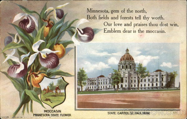 State Capitol St. Paul Minnesota State Flowers & Seals