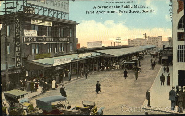 A Scene At The Public Market, First Avenue And peje Street Seattle Washington