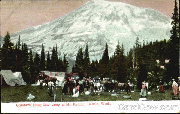 Climbers Going Into Camp Seattle Washington