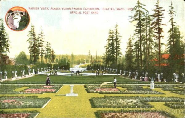 Rainier Vista Seattle Washington 1909 Alaska Yukon-Pacific Exposition