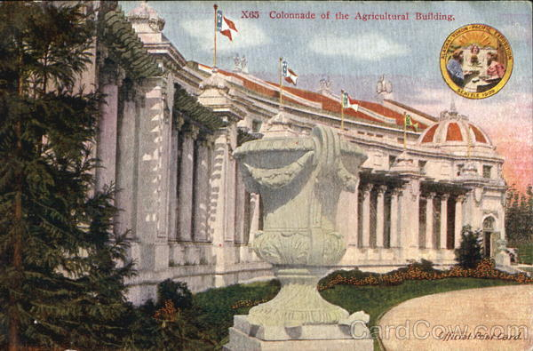 Colonnade Of The Agricultural Building Seattle Washington