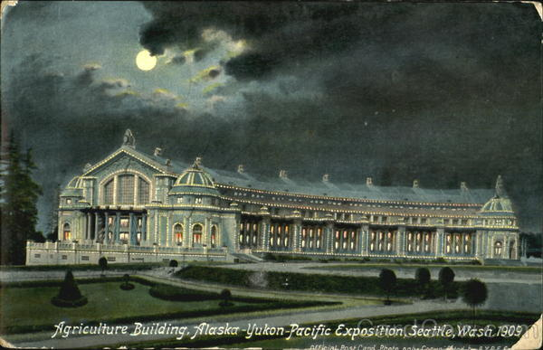 Agricultural Building Seattle Washington 1909 Alaska Yukon-Pacific Exposition