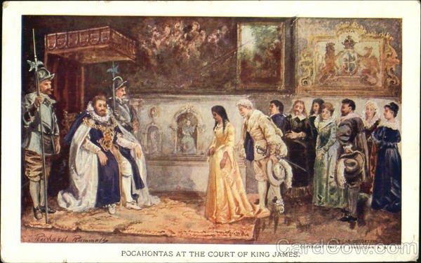 Pocahontas At The Court Of King James 1907 Jamestown Exposition