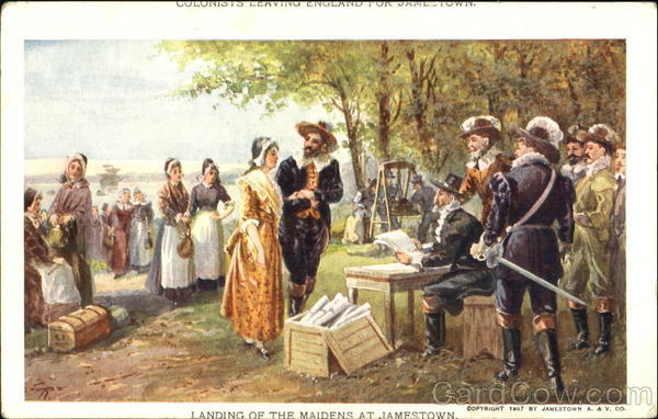 Colonists Leaving England For Jamestown 1907 Jamestown