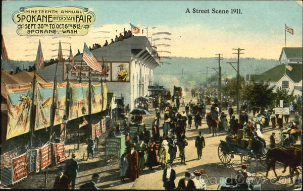 A Street Scene 1911 Spokane Washington Exposition