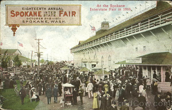 At The Spokane Interstate Fair In 1910 Washington Exposition