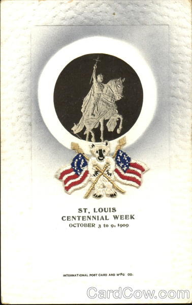 St. Louis Centennial Week Missouri Exposition Woven Silk