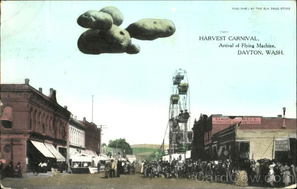 Harvest Carnival Dayton Washington Exposition Exaggeration