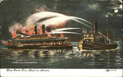 New York Fire Boat In Action