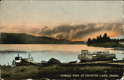 Forest Fire At Payette Lake