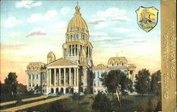 Capitol Of Illinois Gold Embossed