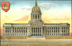 Kentucky New State Capitol Gold Embossed