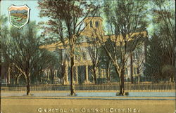 Capitol At Carson City Gold Embossed