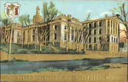 State House From River Gold Embossed