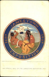 An Official Seal Of The Jamestown Exposition 1907