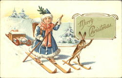 Girl on Skis Rabbit