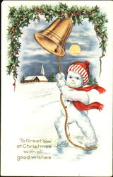 Snowman Ringing Bell