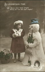 Tinted Girl Snowman