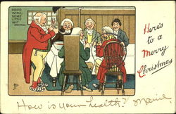 Here's To A Merry Christmas Postcard