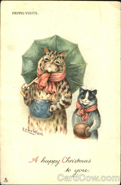 A Happy Christmas To You Louis Wain