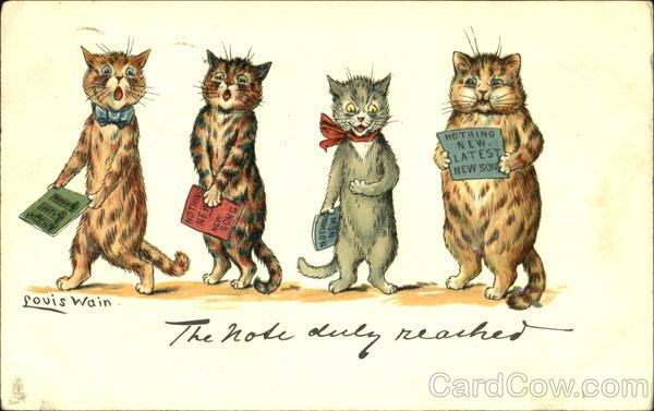 The Note Duly Reached Louis Wain