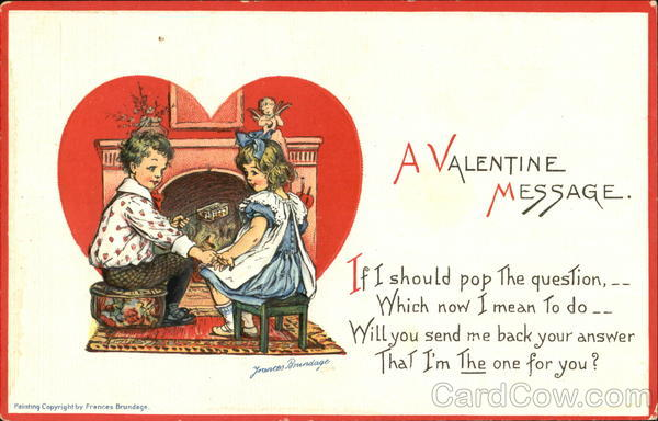 A Valentine Message Frances Brundage