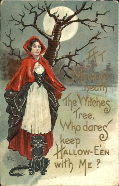 At Midnight Neath The Witches Tree Who Dares Keep Hallow-Even With Me?
