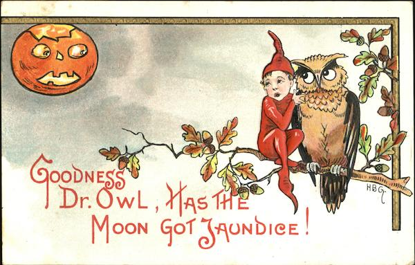 Goodness Dr. Owl Has The Moon Got Jaundice! H.B. Griggs (HBG)