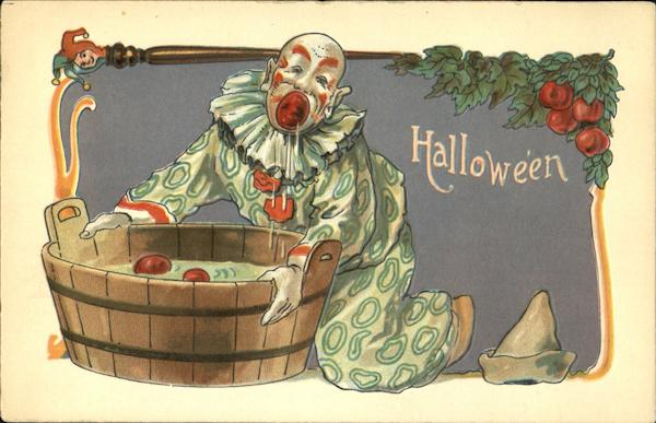 Scary Clown Bobbing Apples H.B. Griggs (HBG) Halloween
