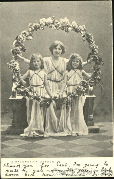 A Decorative Wreath Girls