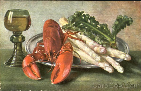 Still Life - Lobster M. Billing Artist Signed