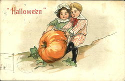 Children with Pumpkin