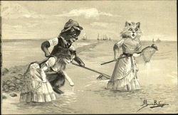 Cats Fishing