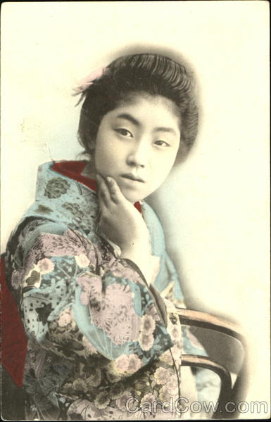 Japanese Woman - Hand Colored Asian