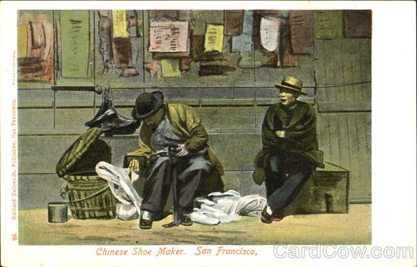 Chinese Shoe Maker San Francisco Asian