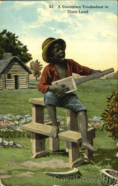 A Coontown Troubadour In Dixie Land Black Americana