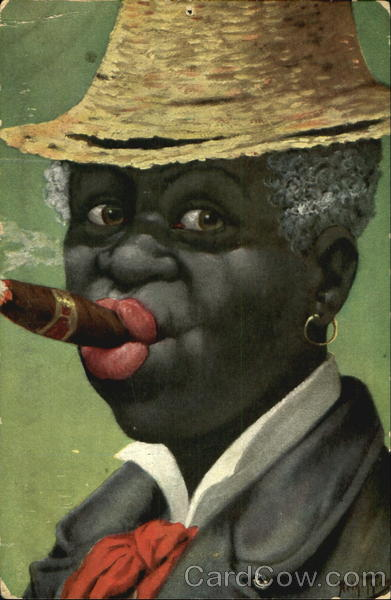 Smoking Cigar Arthur Thiele Black Americana