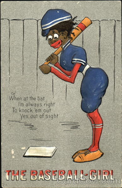 The Baseball-Girl E. Nash Black Americana