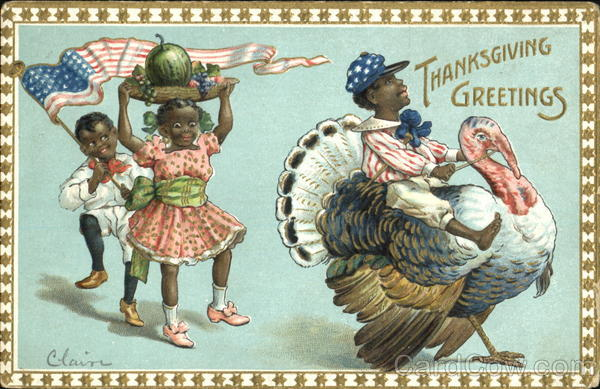 Thanksgiving Greetings Black Americana