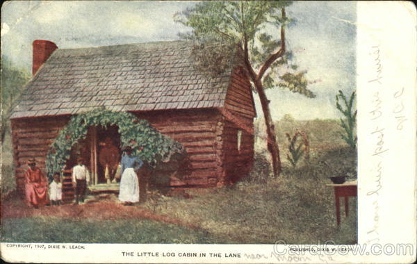 The Little Log Cabin In The Lane Black Americana