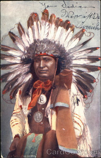 Chief Hollow Horn Native Americana
