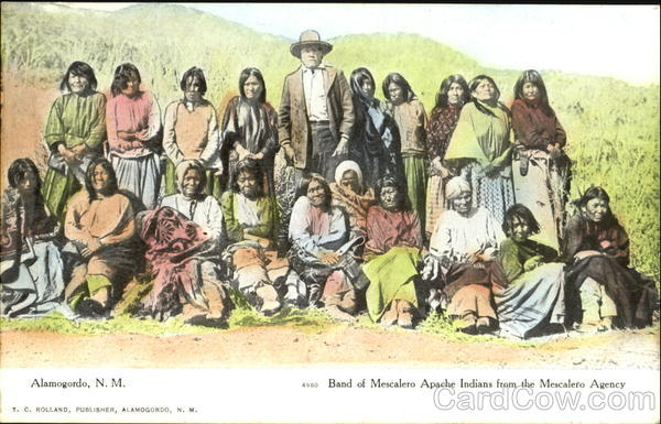 Band Of Mescalero Apache Indians From The Mescalero Agency Alamogordo