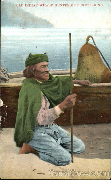 Old Indian Whale Hunter Of Puget Sound Native Americana