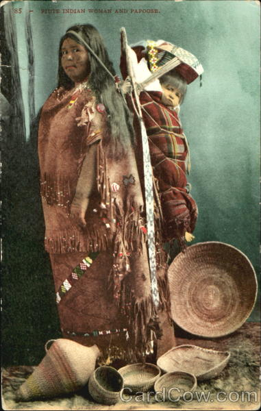 Piute Indian Woman And Papoose Native Americana